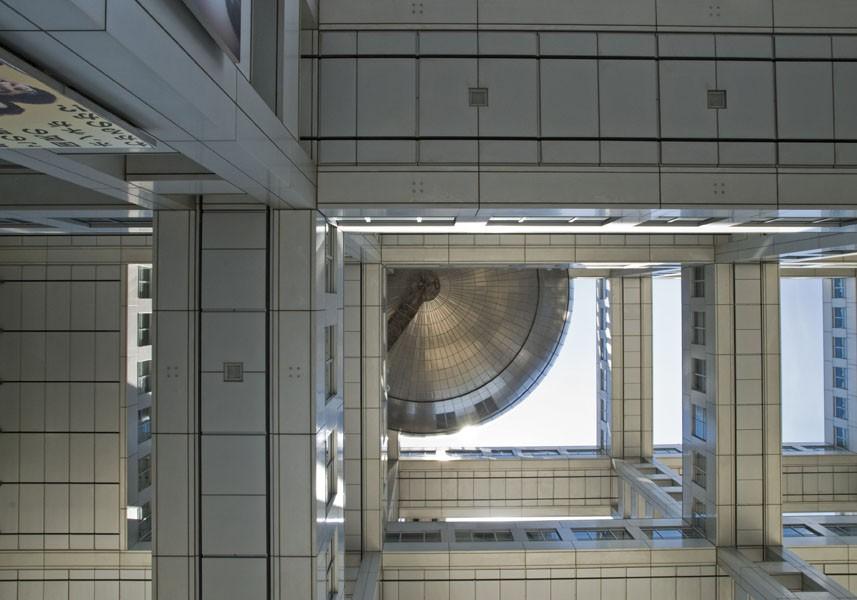Fuji TV building, Tokyo, 2010